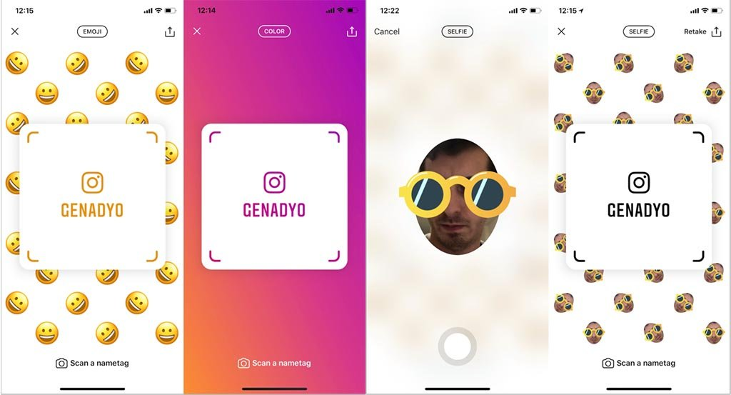 Nametag Instagram testet neues Feature